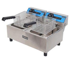 Double 10-Liter Electric Countertop Economy Fryer (Uniworld) Image