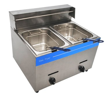 Double 10-Liter Propane Countertop Fryer (Uniworld) Image