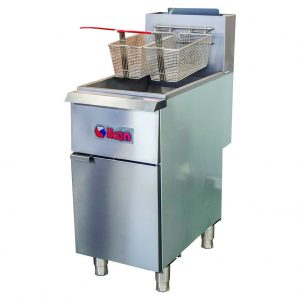 35-40 lb. Natural Gas Floor Fryer (IKON) Image